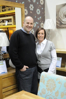 Steve and Colette Wilson of Furniture Traders, Thirsk