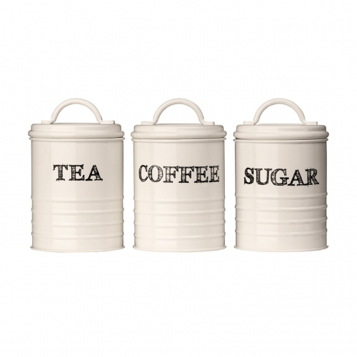 Sketch Cream Tea, Coffee & Sugar Tins