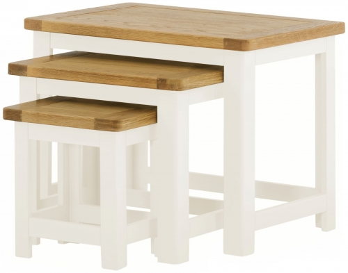 Brompton White Nest of Tables