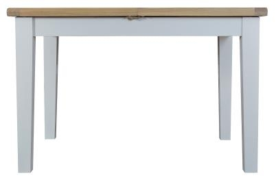 Thornton Painted Grey with Oak Top 1.2m Butterfly Extending Table