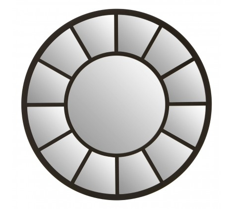Tiffany Round Mirror - Black