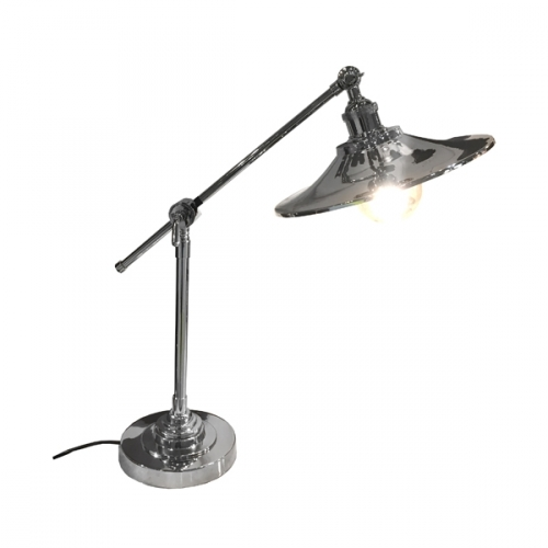 Manhattan Angular Desk lamp - Nickel Finish