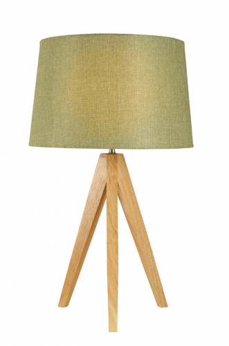 Wooden Tripod Lamp Olive
