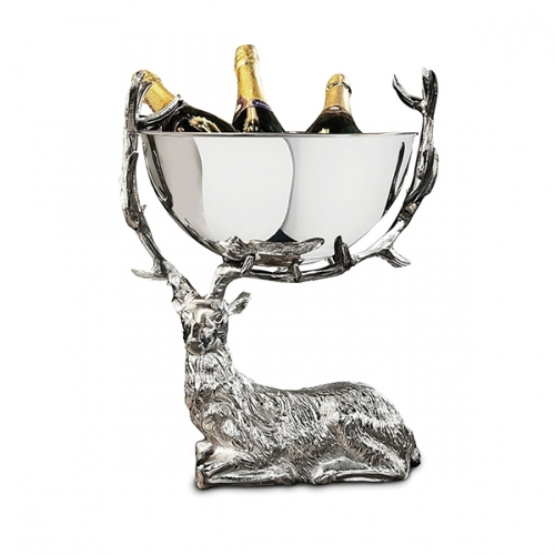 Small Resting Stag Punch Bowl/Wine Cooler