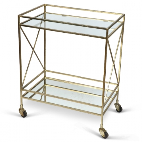 Oxford Drinks Trolley - Antique Gold