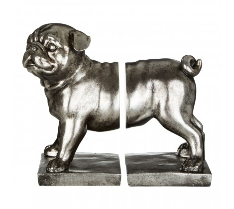 Set of Pug Bookends