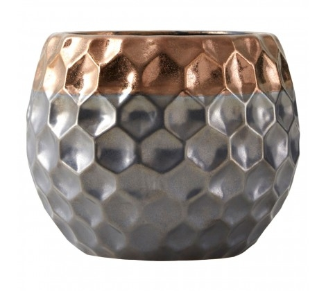 Galaxy Small Metallic Planter