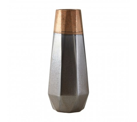 Jet Small Metallic Vase