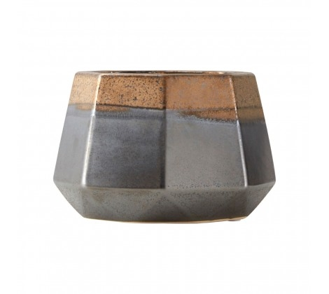 Jet Small Metallic Planter