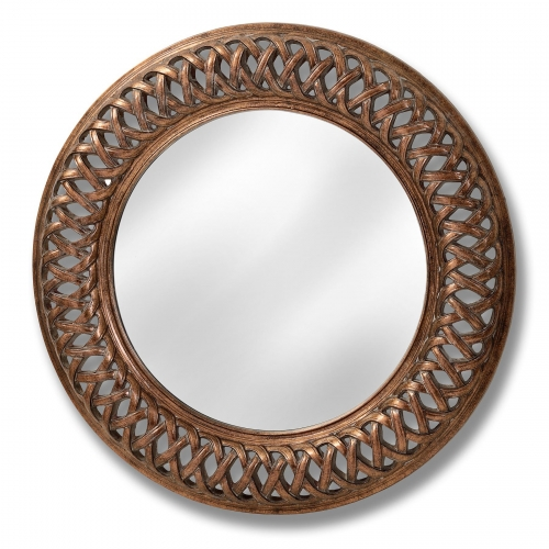 Antique Old Lattice Wall Mirror