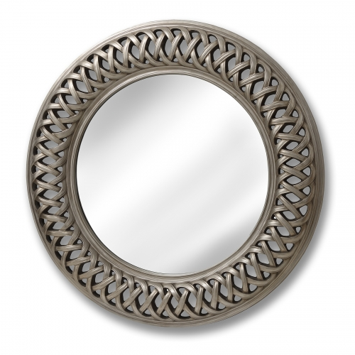 Entwined Lattice Silver Mirror