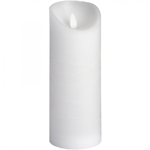 White Flickering Flame LED Wax Candle