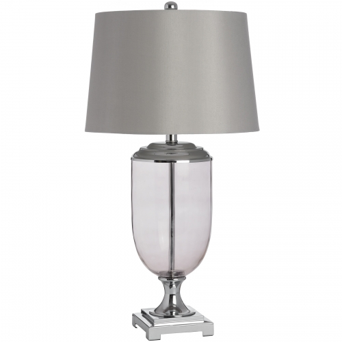 Hermes Glass Metal Table Lamp
