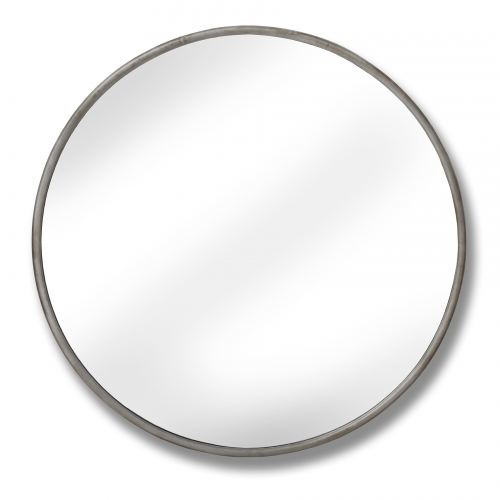 Large Silver Foil Narrow Rim Mirror