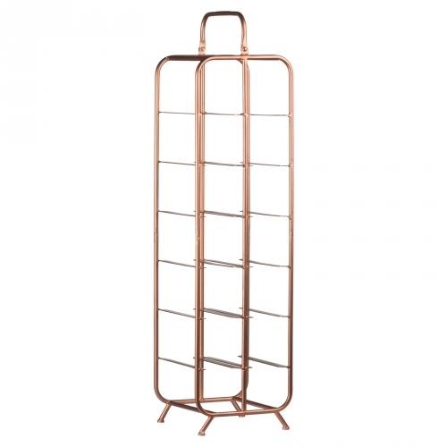 Industrial Inspired Copper Finished 12 Bottle Wine Rack
