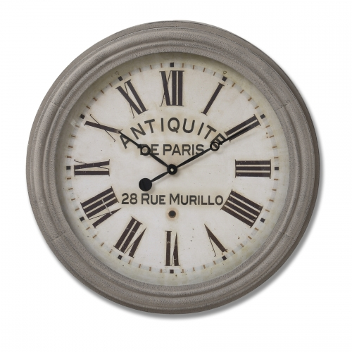 Large Grey Murillo Clock