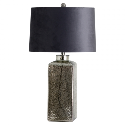 Stella Mirrored Glass Table Lamp with Velvet Shade