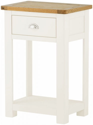 Brompton White 1 Drawer Console Table