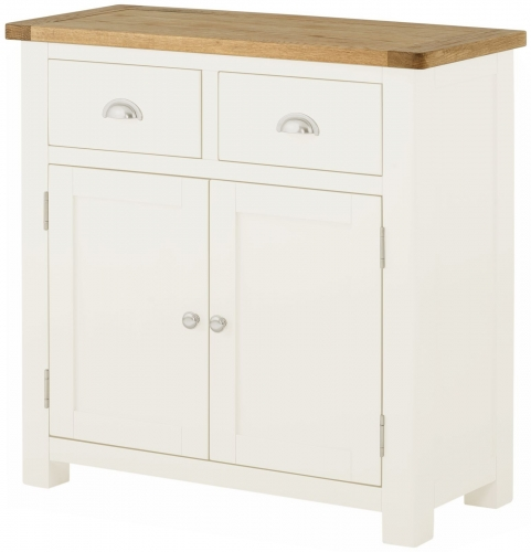 Brompton White Small 2 Door Sideboard