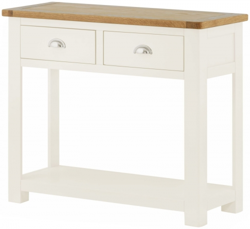 Brompton White 2 Drawer Console Table