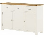 Brompton White 3 Door Sideboard