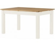 Brompton White Extending Dining Table