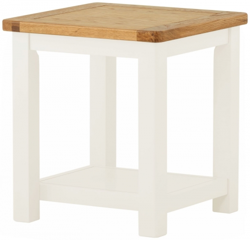 Brompton white Lamp Table