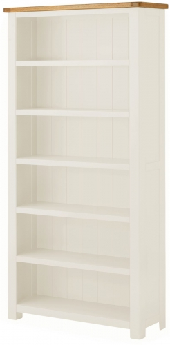 Brompton White Large Bookcase