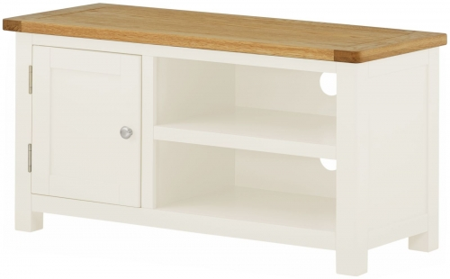 Brompton White Small TV Cabinet
