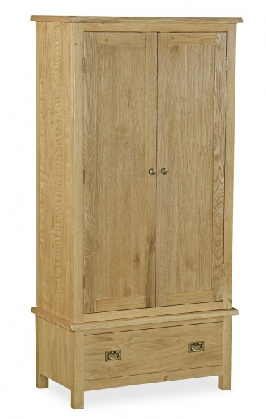 Somerset Waxed Oak Gents Wardrobe