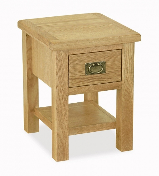 Somerset Waxed Oak 1 Drawer Lamp Table
