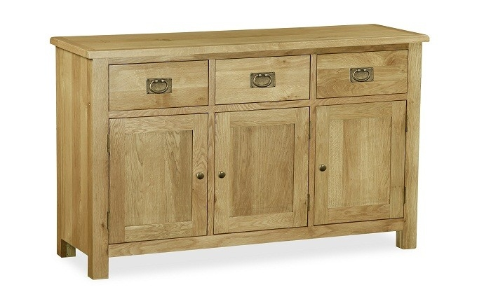 Somerset Waxed Oak Large Sideboard