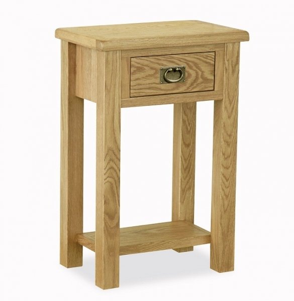 Somerset Waxed Oak 1 Drawer Console Table