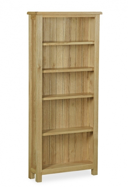 Somerset Waxed Oak Large Bookcase