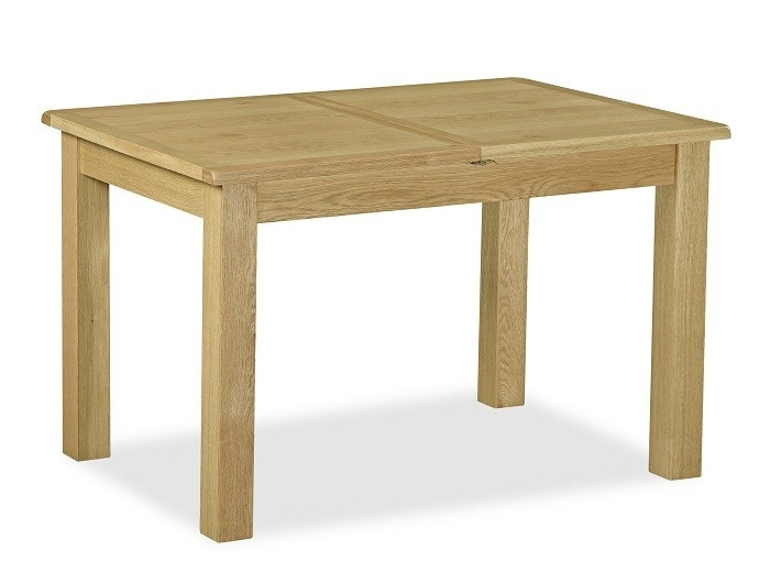 Somerset Waxed Oak Compact Extending Dining Table