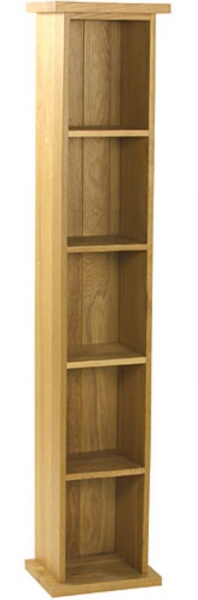 Malvern Oak Small DVD Rack