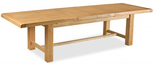 Farmhouse Waxed Oak 2.2m Extending Table