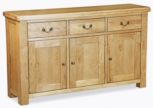 Farmhouse Waxed Oak Large Sideboard