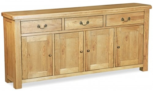 Farmhouse Waxed Oak Extra Large Sideboard