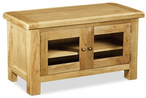 Farmhouse Waxed Oak TV Unit