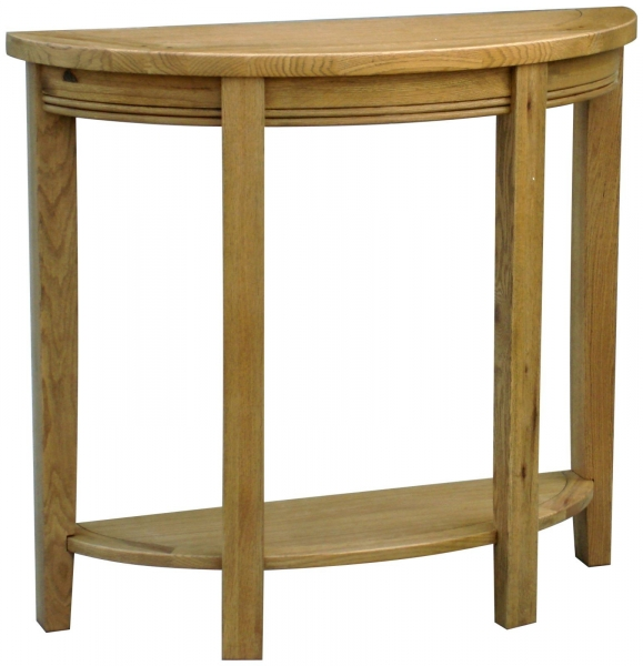 Rochelle French Oak demi-lune Console Table
