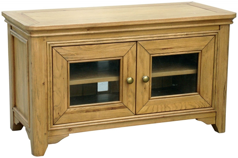Rochelle French Oak 2 Door Tv Cabinet