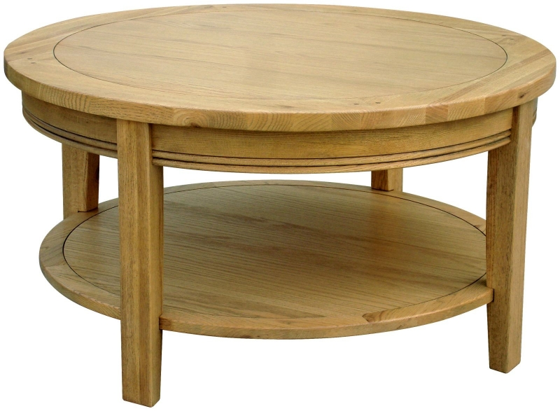 Rochelle French Oak Round Coffee Table