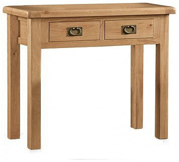 Country Rustic Waxed Oak Dressing Table