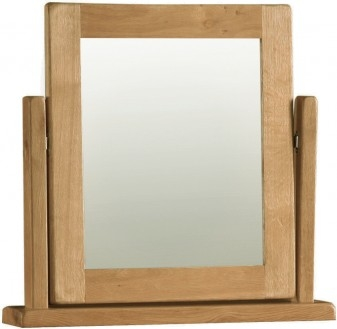 Country Rustic Waxed Oak Dressing Table Mirror