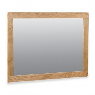 Country Rustic Waxed Oak Mirror