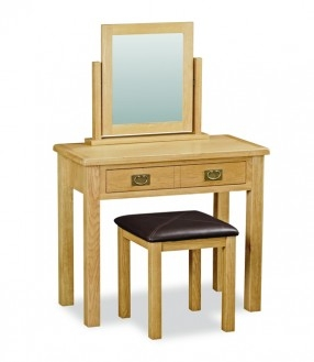 Somerset Waxed Oak Dressing Table (Mirror & Stool Not Included)