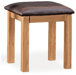 Somerset Waxed Oak Dressing Table Stool