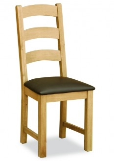 Somerset Waxed Oak Ladder Back Dining Chair