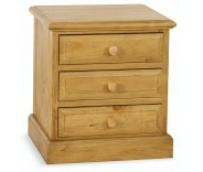 Wellgarth Pine 3 Drawer Bedside
